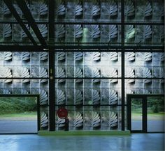 Herzog & De Meuron Ricola-Europe SA Production & storage building Translucent panels printed with a repeating pattern motif, with the façade creating a close relationship to Textiles.  �