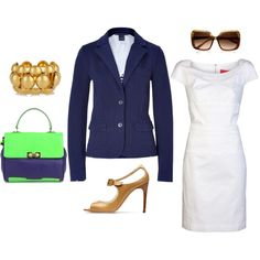 Summer work outfit, created by merryoliver on Polyvore