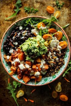 Cuban Quinoa Bowl with Spicy Lemon Dressing- Vegan and Gluten Free