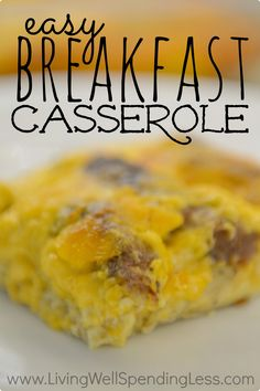 This simple but delicious breakfast casserole was my mom's special birthday breakfast tradition.  Just whip it the night before, then pop it in the oven in the morning for a delicious and hearty meal that your whole family will love!