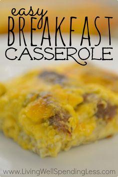 Easy Breakfast Casserole – Living Well Spending Less™