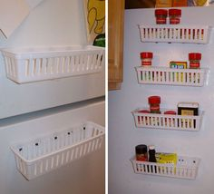 Magnetic Spice Rack For Refrigerator | 32 DIY Storage Ideas for Small Spaces | DIY Organization Ideas for Small Spaces