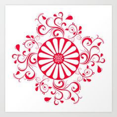 Gyspy Wheel Mandala Art Print #gypsies #romanygypsies #romanygypsy #gypsy #symbol #romani #romanigypsy #history #tattoo