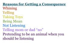 """Reasons for Getting a Consequence  """"Pretending to be an animal when you should be listening"""" omg I'm dying!!"""