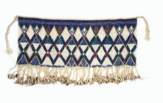 Africa | Beaded Skirt (Pikuran). Possibly the Kirdi culture Cameroon. Cotton, glass beads, shells | The geometric patterning on this skirt exemplifies the skill found in northern Cameroon. It typifies cashe-sexe jewelry worn by women of high social status for ceremonial occasions.