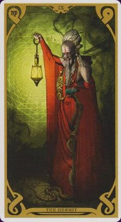 The Hermit - Night Sun Tarot -  If you love Tarot, visit me at www.WhiteRabbitTarot.com