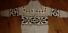 Childrens White Buffalo Sweater Coat size 6 Pure Wool by Mostable, $110.00