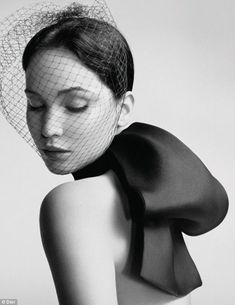 High fashion: Jennifer Lawrence looks every inch the model as she poses in a sultry campaign for Dior