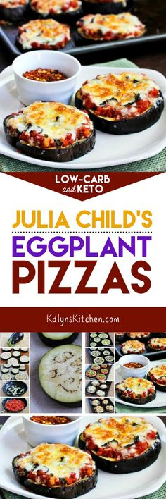 Julia Child's Eggplant Pizzas found on KalynsKitchen.com