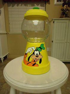 Goofy Candy Jars Clay Pot Projects, Clay Pot Crafts, Diy Clay, Jar Crafts, Fun Projects, Flower Pot Art, Flower Pot Design, Flower Pot Crafts, Painted Clay Pots