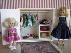 Vintage Hall's White Wardrobe For 6 to 12 Dolls  Play by TheToyBox