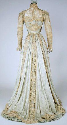 Belle époque - Dentelle - Robe du Soir - 1902