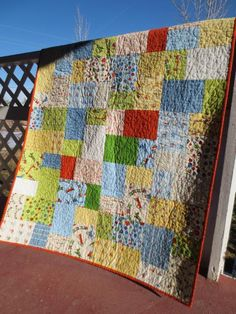 Square/rectangular colorful quilt