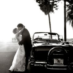 A sweet classic wedding with a natural setting for the reception.