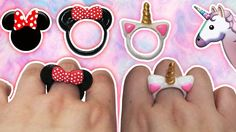 ♥ Tutorial: Anillos DIY de Mickey/Minnie Mouse y Unicornio CUTE ♥