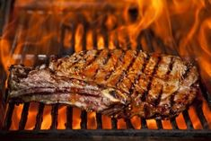 Stock Photo - A top sirloin steak flame broiled on a barbecue, shallow - Feel free to share on Pinterest