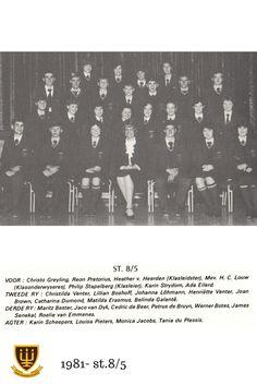 1981 St.8/5 Hoërskool Wesvalia