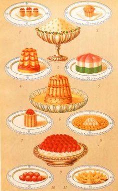 Victorian Gel Cookery From Another Time Pinterest