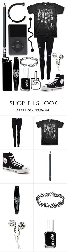 """Black Veil Brides..."" by emo-kyleigh ❤ liked on Polyvore featuring Frame Denim, Converse, NARS Cosmetics and Essie"