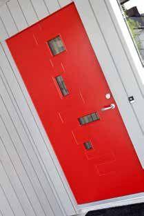 Det grå huset med den røde døra | Nordbohus.no Filing Cabinet, Storage, Furniture, Design, Home Decor, Purse Storage, Decoration Home, Room Decor, Home Furnishings