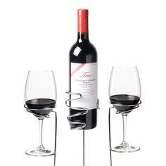 Wine Sticks Glass and Bottle Holder, 3 Piece Set http://www.homewetbar.com/Wine-Sticks-Glasses-and-Bottle-Holder-Set-p-901.html
