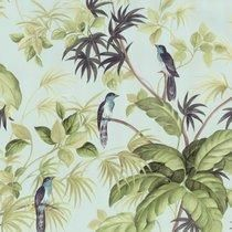 Paradise Birds - Blue / Green - Tropical - Exotic - Rain Forest - Wallpaper in Home, Furniture & DIY, DIY Materials, Wallpaper & Accessories Tree Leaf Wallpaper, Palm Wallpaper, Feature Wallpaper, Forest Wallpaper, Wallpaper Roll, Tropical Wallpaper, Tropical Birds, Exotic Birds, Tropical Leaves