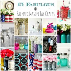 Painted Mason Jar Crafts @ Mason Jar Crafts Love