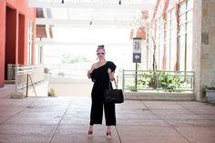 Comfy one shoulder black jumpsuit.