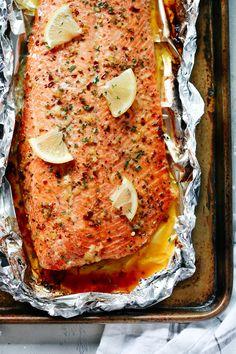Garlic Butter Salmon in Foil Recipe - Primavera Kitchen