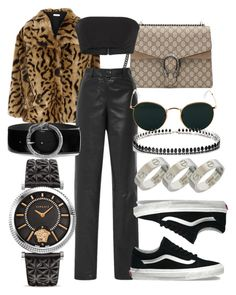 #Look:#509 by dollarwomanlux on Polyvore featuring polyvore, fashion, style, Miu Miu, Thierry Mugler, Vans, Gucci, Versace, Fallon, Cartier, Yves Saint Laurent, Ray-Ban and clothing