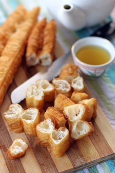 Youtiao aka Chinese Cruller recipe! These are a must have for an authentic Chinese breakfast :) Perfect with porridge.