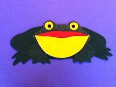 Flannel set for Keith Faulkner's pop-up book, The Wide-Mouthed Frog