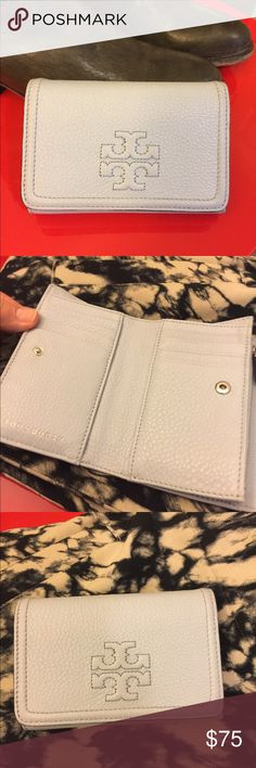 Tory Burch L/Blue Tri-fold Wallet Beautiful authentic leather Tory Burch  Wallet Excellent clean condition  5.5  x 3.75 x 1.25 Tory Burch Bags Wallets