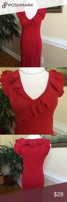 Moda International Sexy knit short sleeve dress Elegant and comfortable knit short sleeve dress with ruffle neck Moda International Dresses
