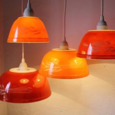 Vintage Pyrex bowl chandelier @Shannon Bellanca Cook something to do with your pyrex collection :)
