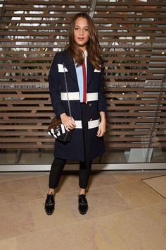 Alicia Vikander at Louis Vuitton  // The best-dressed celebrities at Paris Fashion Week's Fall 2016 shows