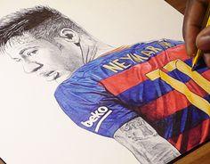 "Check out new work on my @Behance portfolio: ""Neymar Junior Ballpoint Pen Drawing"" http://be.net/gallery/31494063/Neymar-Junior-Ballpoint-Pen-Drawing"