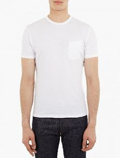 Officine Generale White Cotton Pocket T-Shirt The Officine Generale Cotton Pocket T-Shirt for SS16, seen here in white. - - - This classic crewneck t-shirt from Officine Generale is made from a premium cotton construction. Featuring a slanted bre http://www.MightGet.com/january-2017-13/officine-generale-white-cotton-pocket-t-shirt.asp