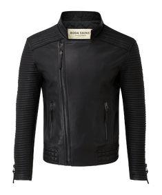 Cuero chaqueta de cuero chaqueta velourjacke lammnappa negros talla 44