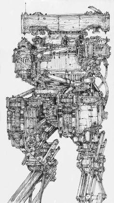 Mecha Anime, Fantasy Setting, Robot Design, Cyberpunk Art, Robot Art, Fantasy Character Design, Fantastic Art, Cool Drawings, Art Inspo