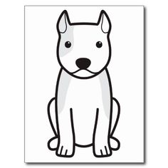 American Staffordshire Terrier Dog Cartoon Postcards