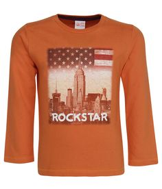 FS MiniKlub Orange Printed Round Neck T-Shirt - http://babylook.in/product/fs-miniklub-orange-printed-round-neck-t-shirt/