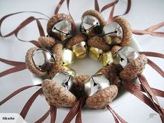 Jingle bell acorns by Marie at Softearthart