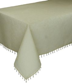 Beaded Sheer Tablecloth