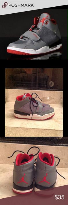 🏀 'Jordan's Flight Club 90's' Basketball Shoes Men's Jordan FLTCLB 90's Basketball shoes Style #602661 022.  Limited edition Cool Grey / Gym Red/Black/White Size 9.  Normal wear but no damages to these shoes. Very good condition!! Jordan Shoes Athletic Shoes