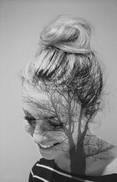 my beautiful sister #doubleexposure #photography #blackandwhite #portrait