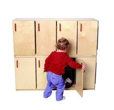 STORAGE WOOD STACKING LOCKERS W/DOORS 20HX46WX13D - Schoolizon