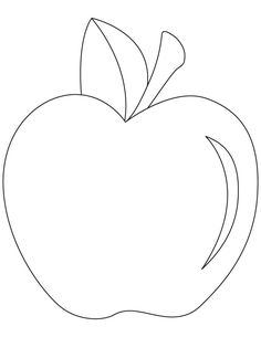 Easy Coloring Pages Of Apples