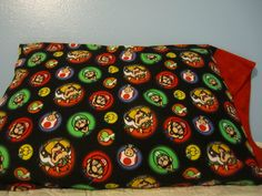 Super Mario/Red Cuff  Pillowcase by FloridaFriends on Etsy