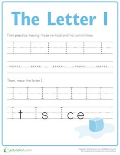 """The first step to building a righteous writer is to build great handwriting skills! Practice tracing the letters of the alphabet with this fun series. Take a look at other <a href=""""http://www.education.com/worksheets/the-alphabet/"""">alphabet worksheets</a> to practice more letters."""